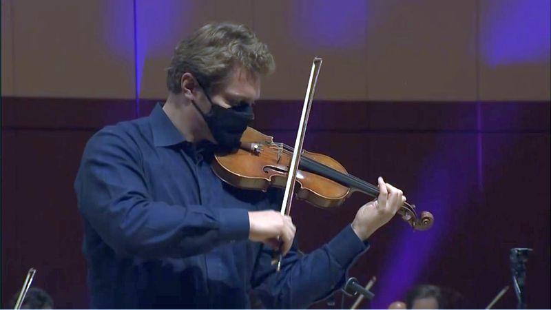 ASO concertmaster David Coucheron (Video frame / ASO)