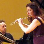 Flutiust Chroistina Smith accompanied by pianist Robert Long0time collaboration: Henry. (Photo: Mark Gresham, 2016--fi archival files)