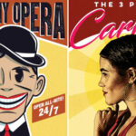 "Poster art for The Atlanta Opera's ""Threepenny Opera"" and ""Threepenny Carmen."" (credit: The Atlanta Opera)"