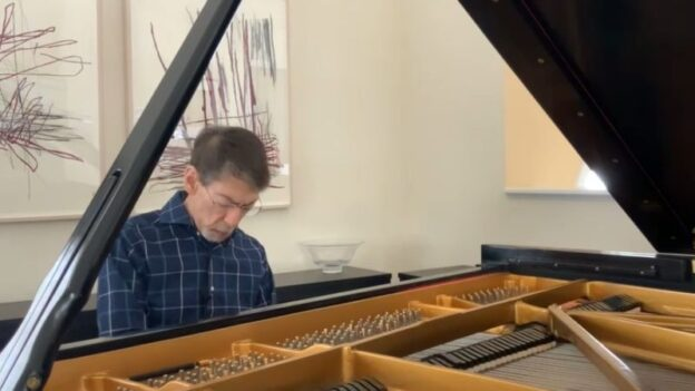 Jazz artist Fred Hersch streams a recital from his home for Spivey Hall. (OCL/Spivey Hall)