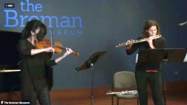 "Helen Hwaya Kim and Sarah Ambrose perform ""Mare'ot"" (""Mirrirs"""") by Betty Olivero."