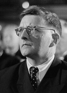 Dmitri Shostakovich, 1950 (credit: Deutsche Fotothek)