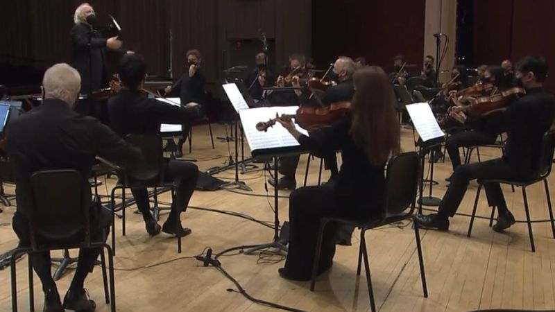 Runnicles and the ASO perform Beethoven's Symphony No. 4. (video frame / ASO)