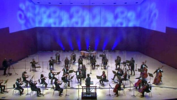 ASYO Chamber Orchestra, Jerry Hou, conductor, performs Beethoven's Overture to The Creatures of Prometheus. (video frame / ASO)