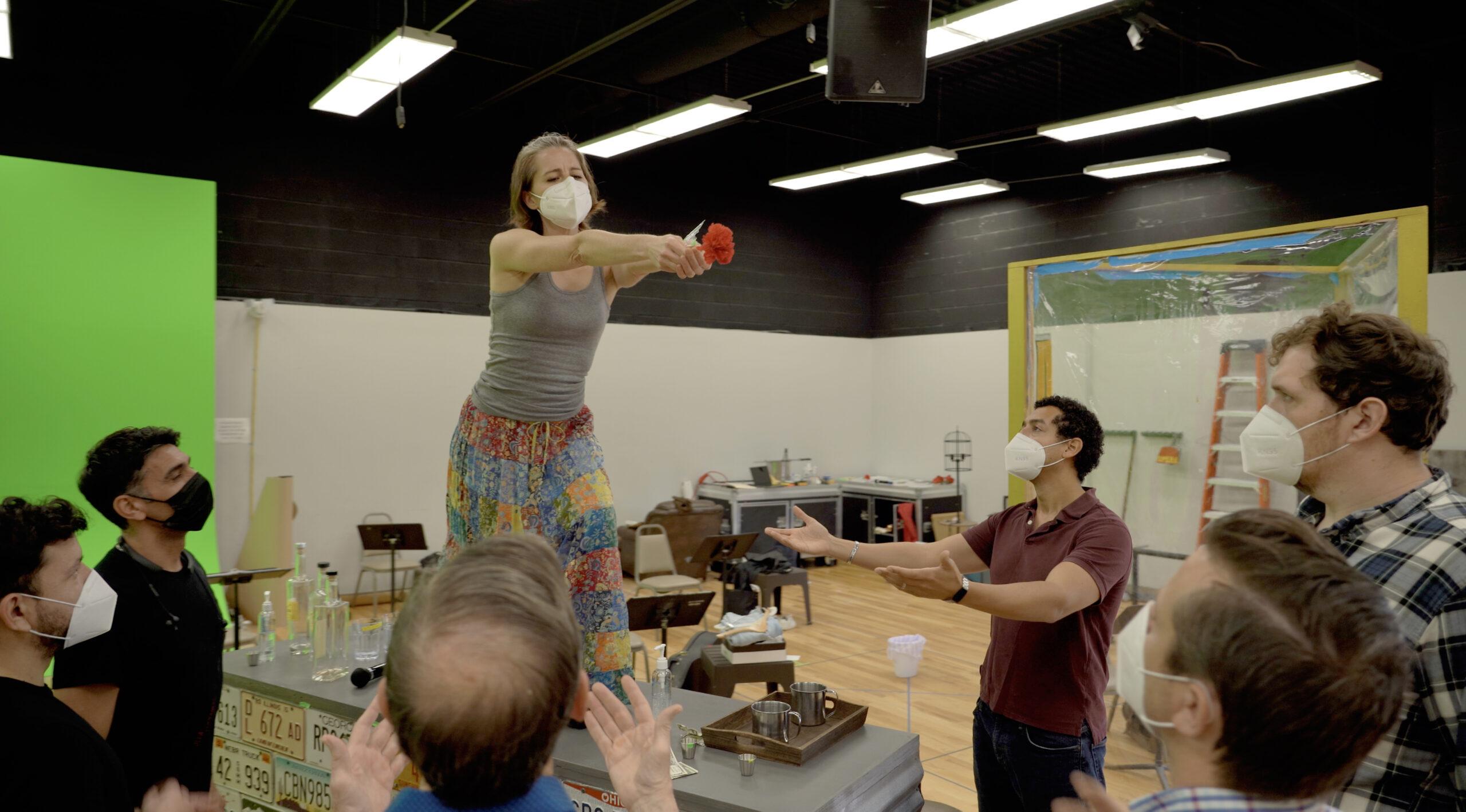 In rehearsal for a scene Carmen at The Atlanta Opera's home rehearsal studio. (credit: Felipe Barral)