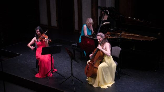 Helen Hwaya Kim, Elizabeth Pridgen and Charae Krueger are among the musicians of The Atlanta Chamber Players who will perform live to a limited audience this Sunday, May 13. (credit: Greg Mooney / ACP)