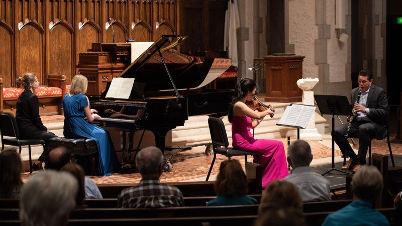 Kim, Pridgen and Rodriguez perform music from Stravinsky's L'Histoire du Soldat. (credit: Julia Dokter)