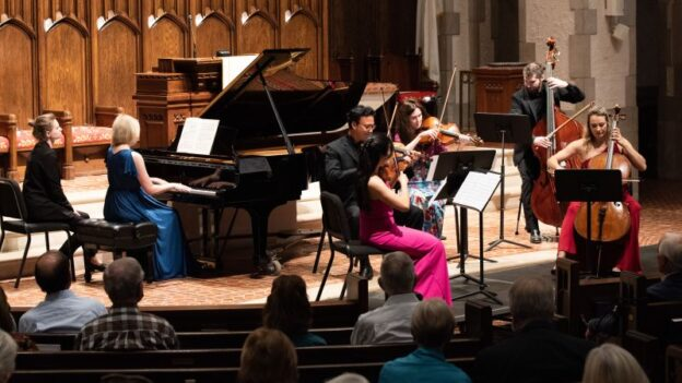 A economy-sized Rhapsody in Blue for piano and string quintet. (credit: Julia Dokter)