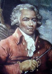 Joseph Bologne, Chevalier de Saint-Georges/ Portrait by Mather Brown, 1787