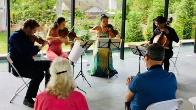 Unmasked: the Vega Quartet performed for a live private audience.