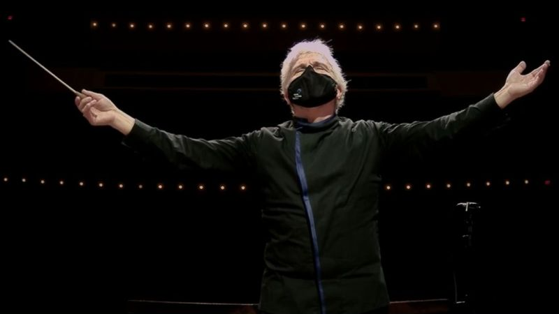 Peter Oundjian, guest conductor (video frame: ASO)