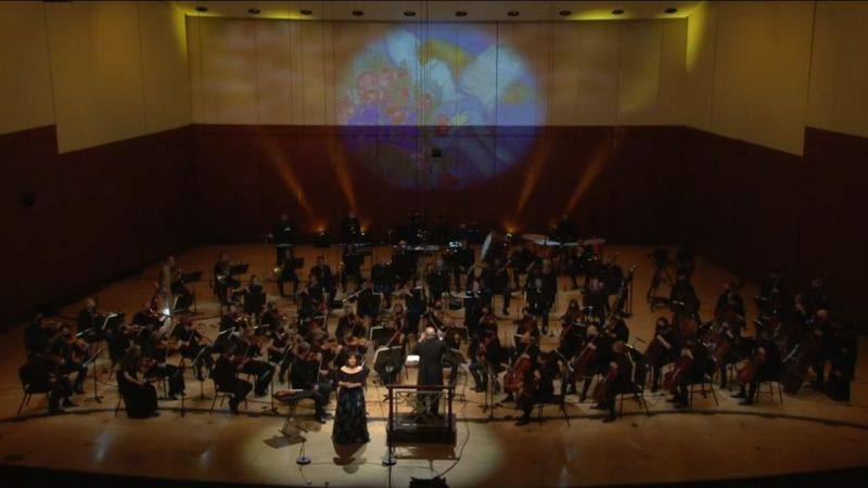 The Atlanta Symphony Orchestra performing Mahler's Symphony No. 4, with over twice as many musicians onstage as the early concerts of the 2020-21 virtual season. (ASO)