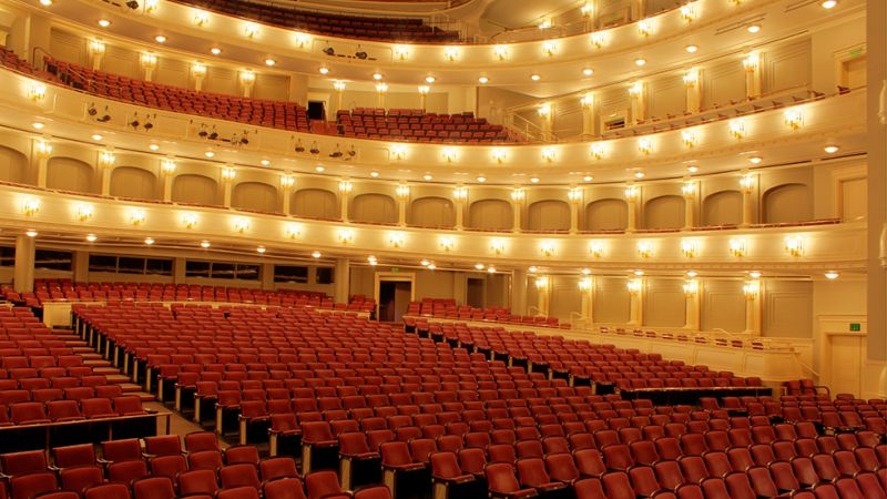 Interior of Bass Performance Hall, Fort Worth, Texas. Capacity: 2,056. (source: basshall.com)_