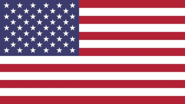 The flag of the United States of America.