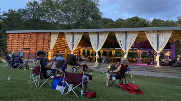 Seating for concerts is available both inside and on the lawn of the Ben Brady Lakeside Pavillion at Chattahoochee Nature center. (credit: CNC)