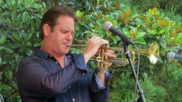 Joe Gransden performing in the 2018 Jazz on the Lawn series. (credit: Mark Gresham)