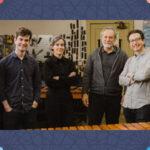 l-r: David Skidmore, Sean Connors, Clarice Assad, Sérgio Assad, Robert Dillon and Peter Martin