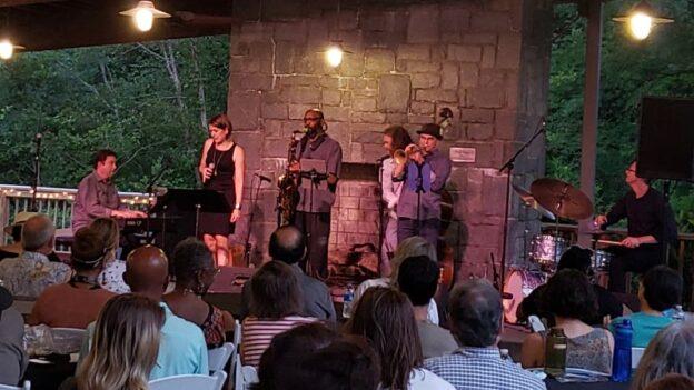 Players in the 'hood: Kevin Bales, piano; Keri Johnsrud, vocals; Fareed Mahluli, tenor sax; Billy Thornton, bass; Mark Rapp, trumpet; Marlon Patton, drums. (credit: Derek Bambach)
